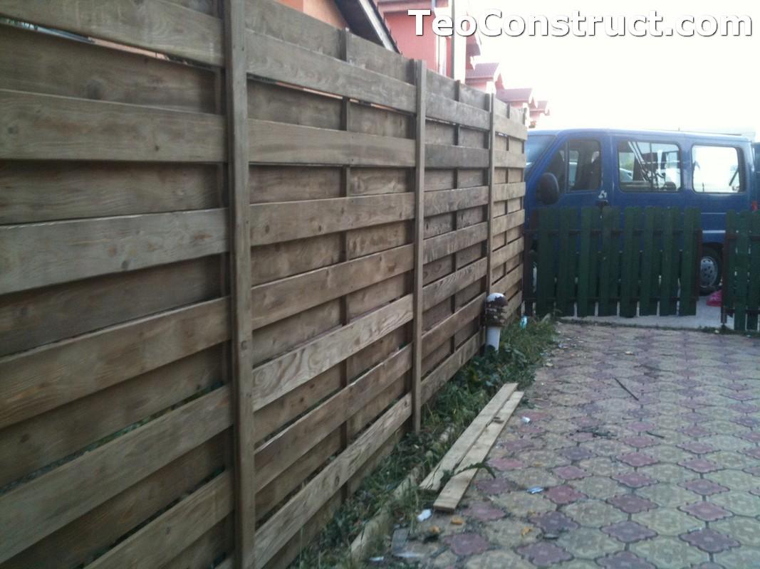 Garduri din lemn modele Campu lung 4