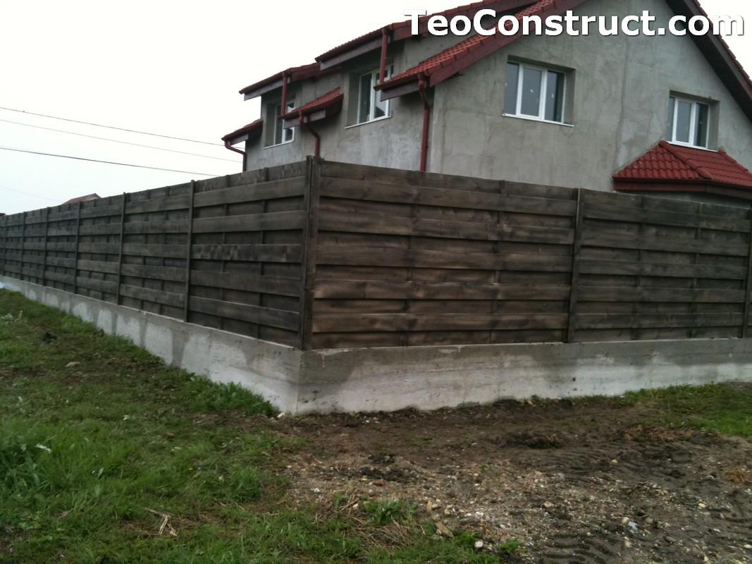 Garduri din lemn modele Giurgiu 2