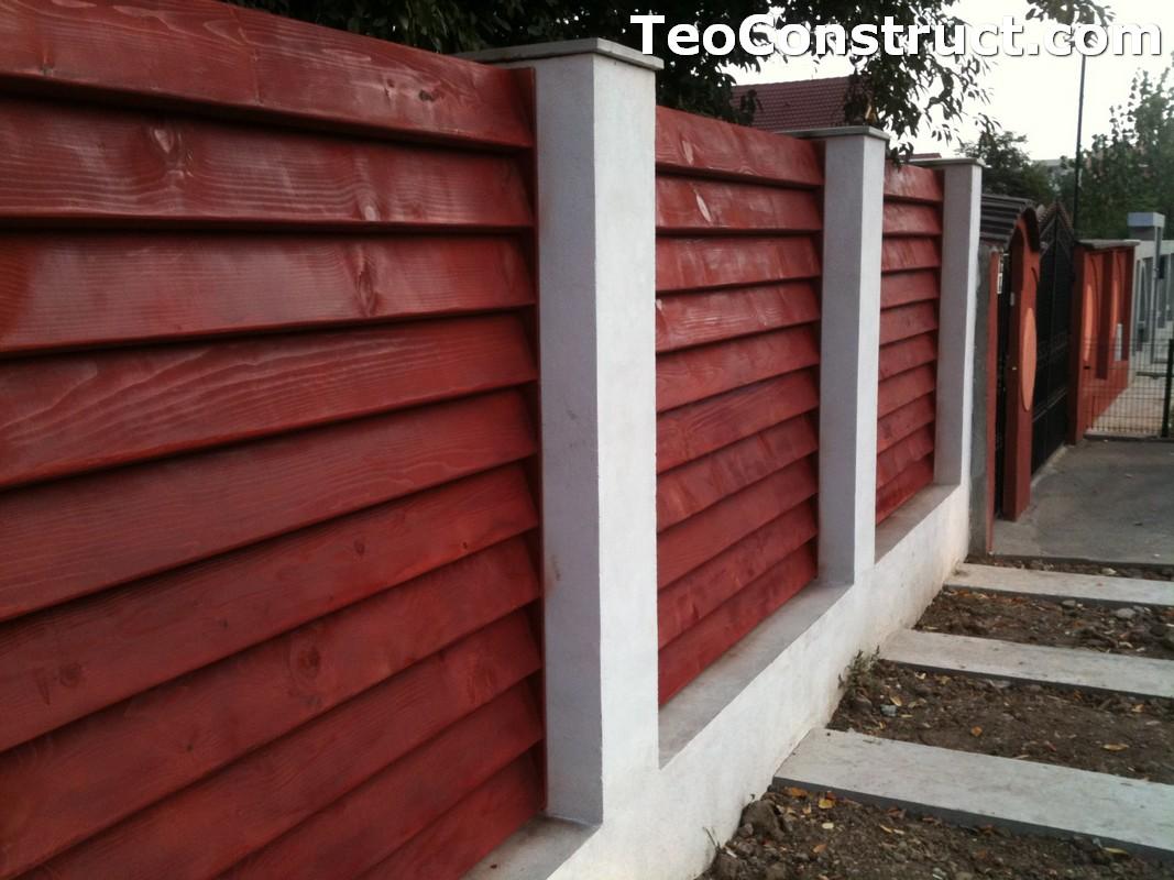 Garduri din lemn modele Pitesti 1