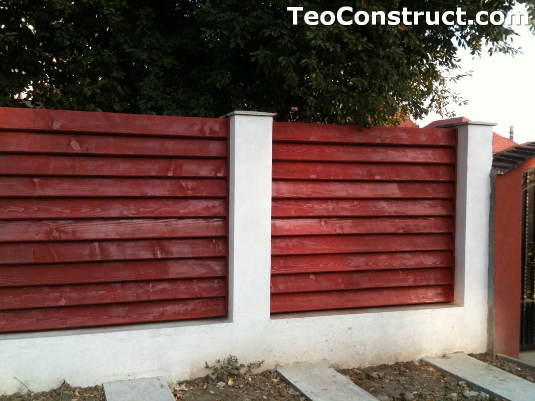 Garduri din lemn modele Pitesti 2