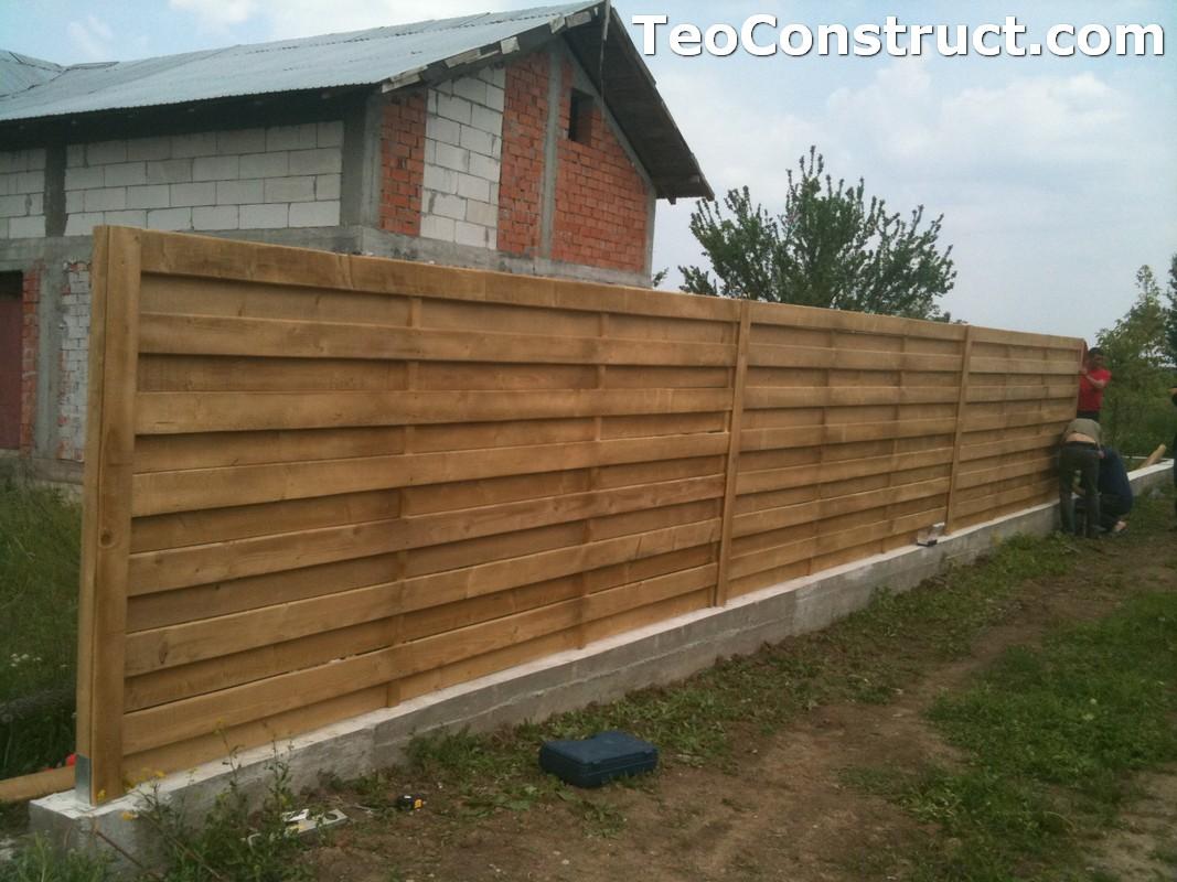 Garduri din lemn preturi Urziceni 2