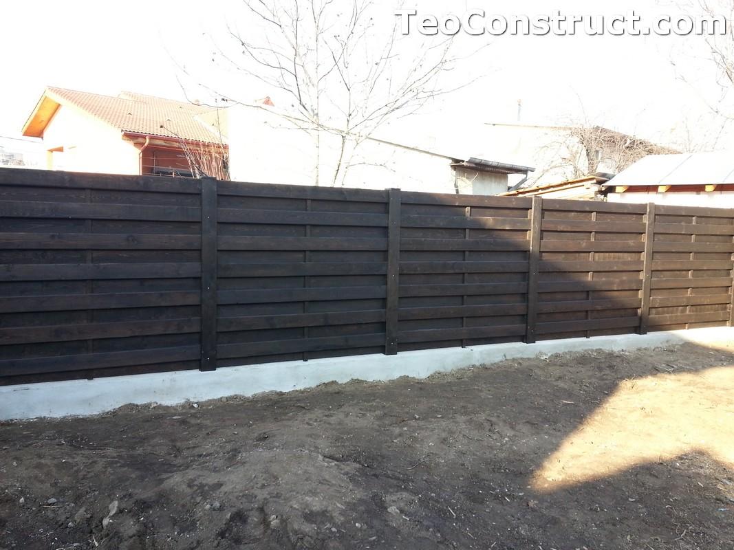 Garduri ornamentale din lemn Lugoj 2