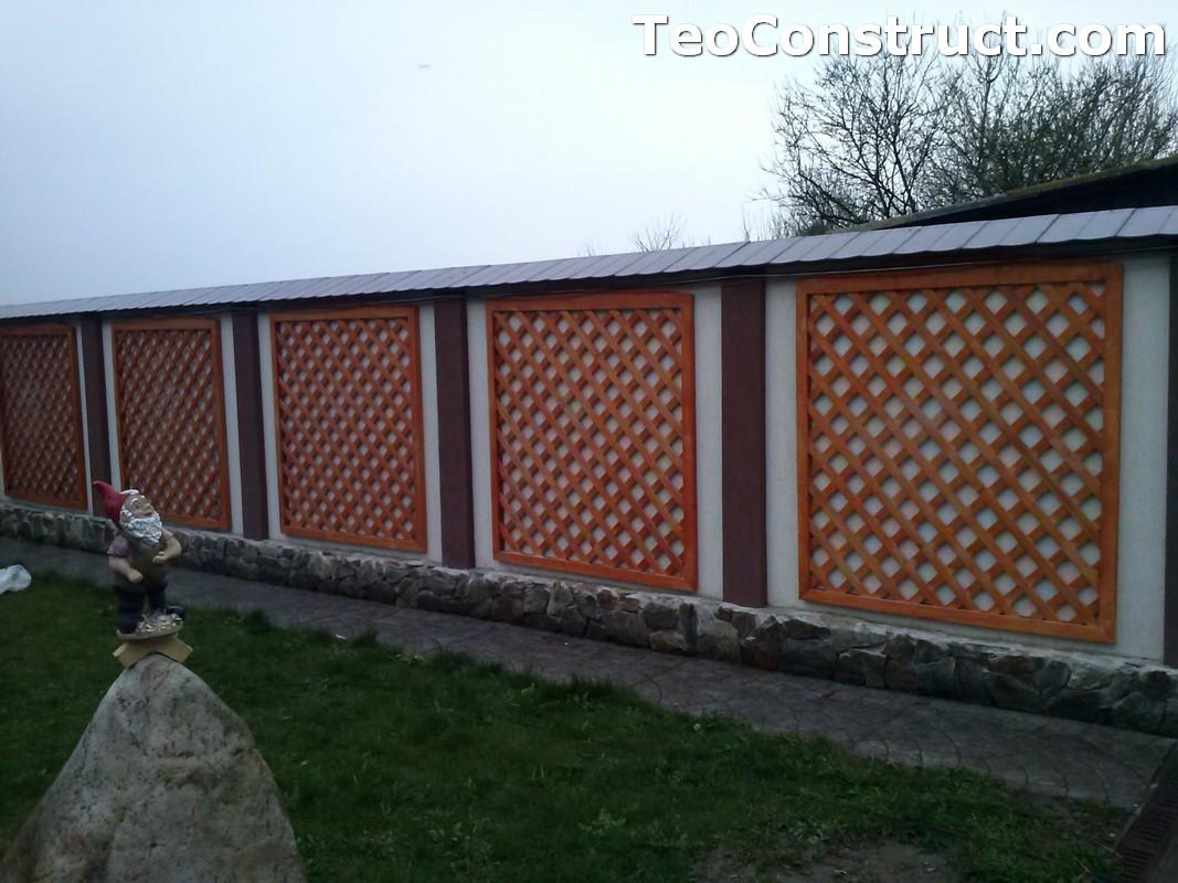 Modele garduri din lemn Bacau 10