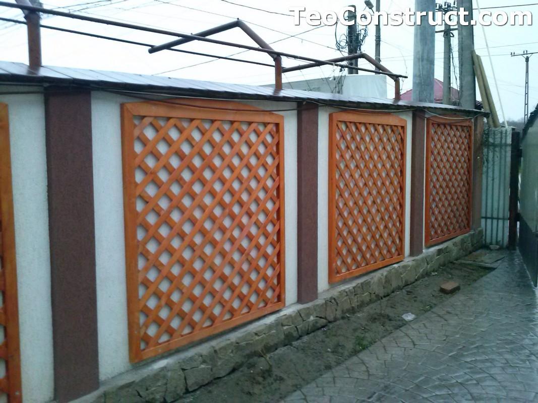 Modele garduri din lemn Bacau 15