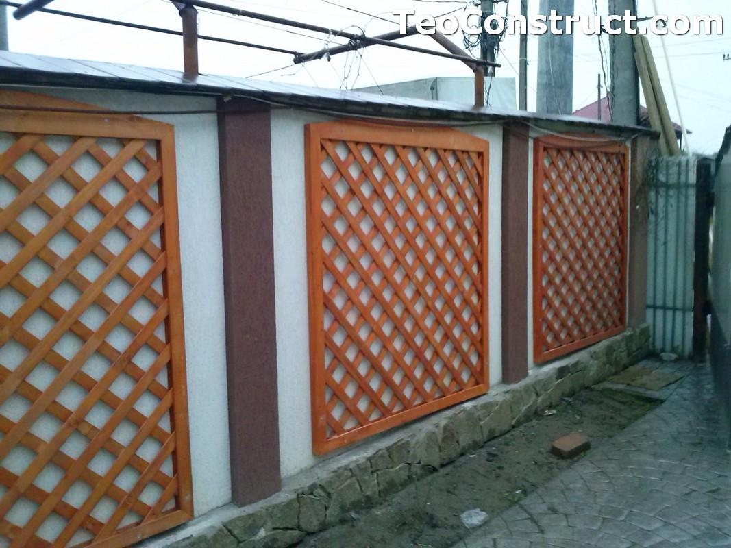 Modele garduri din lemn Bacau 16