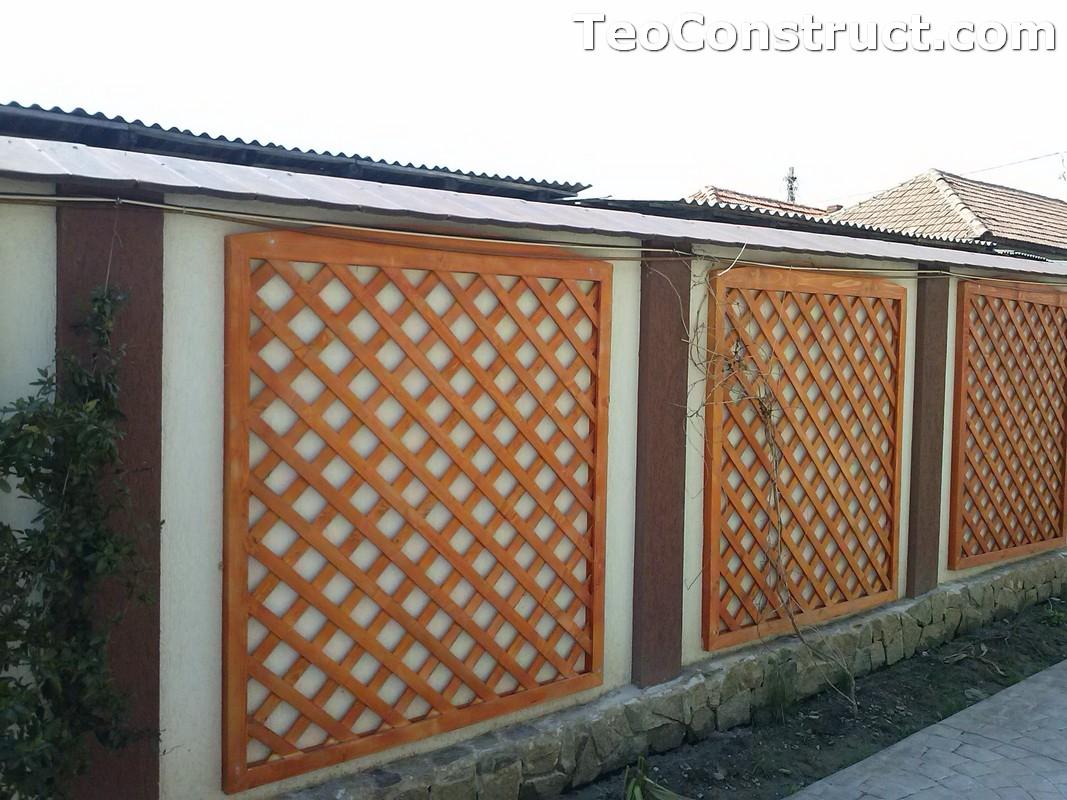 Modele garduri din lemn Bacau 2