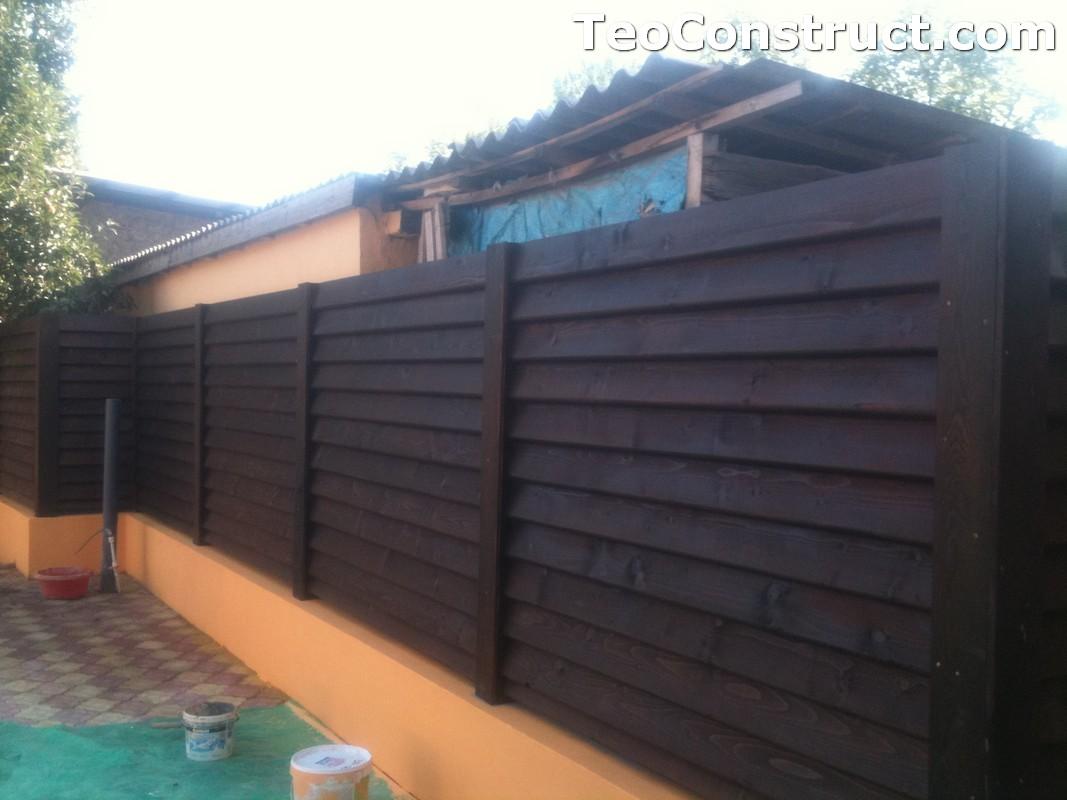 Modele garduri din lemn Blaj 1