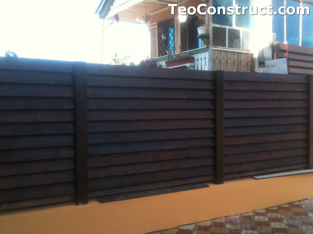 Modele garduri din lemn Blaj 5