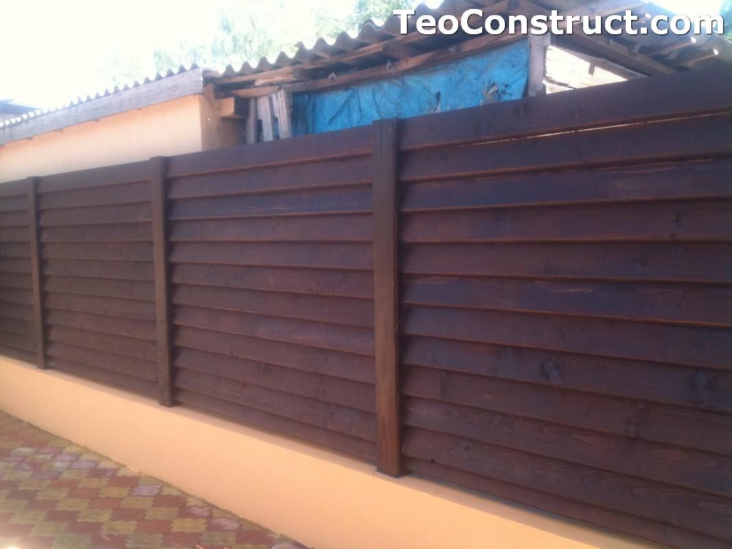 Modele garduri din lemn Blaj 7