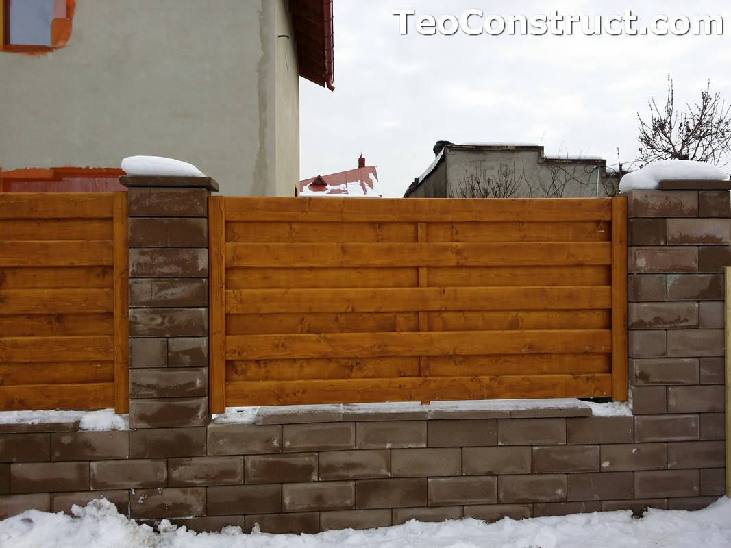 Modele garduri din lemn Campina 6