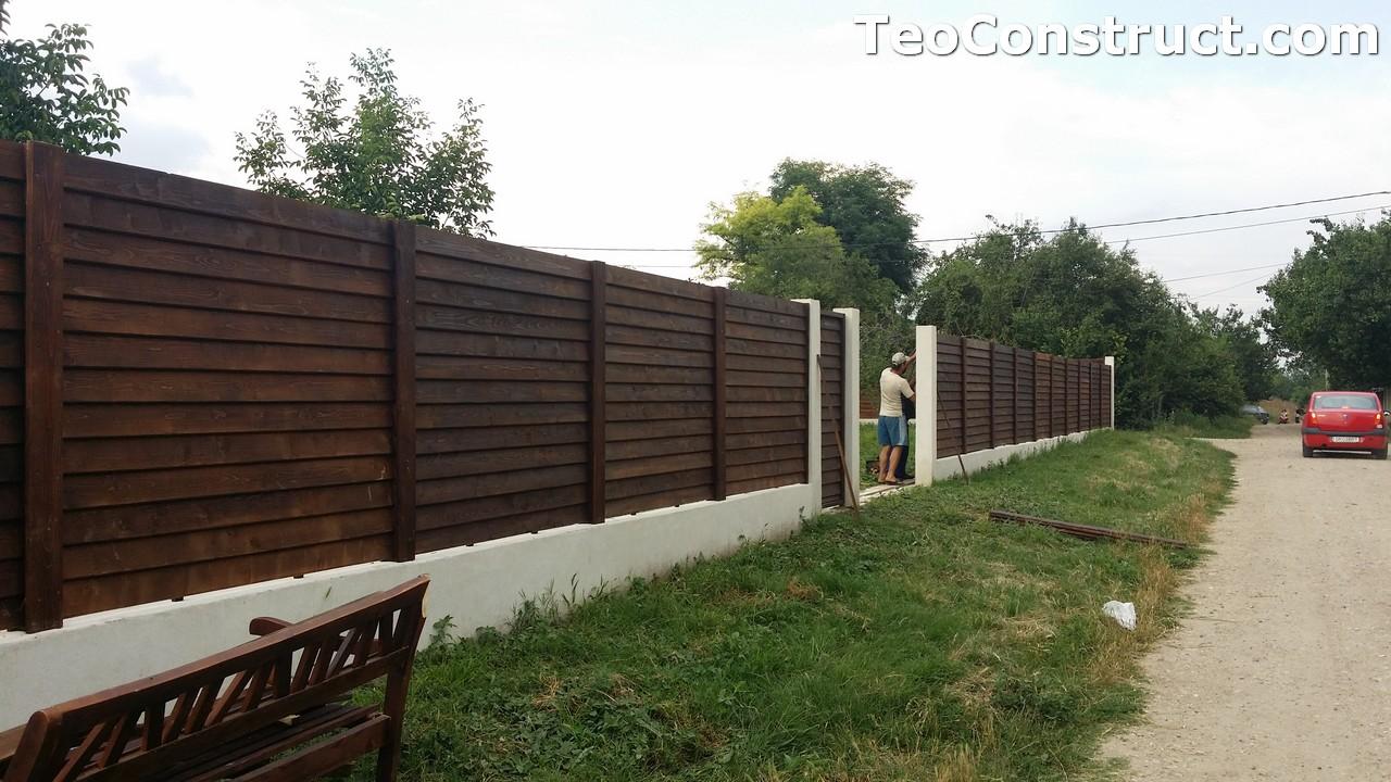 Modele garduri din lemn Deva 1