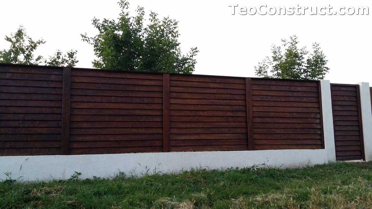 Modele garduri din lemn Deva 10