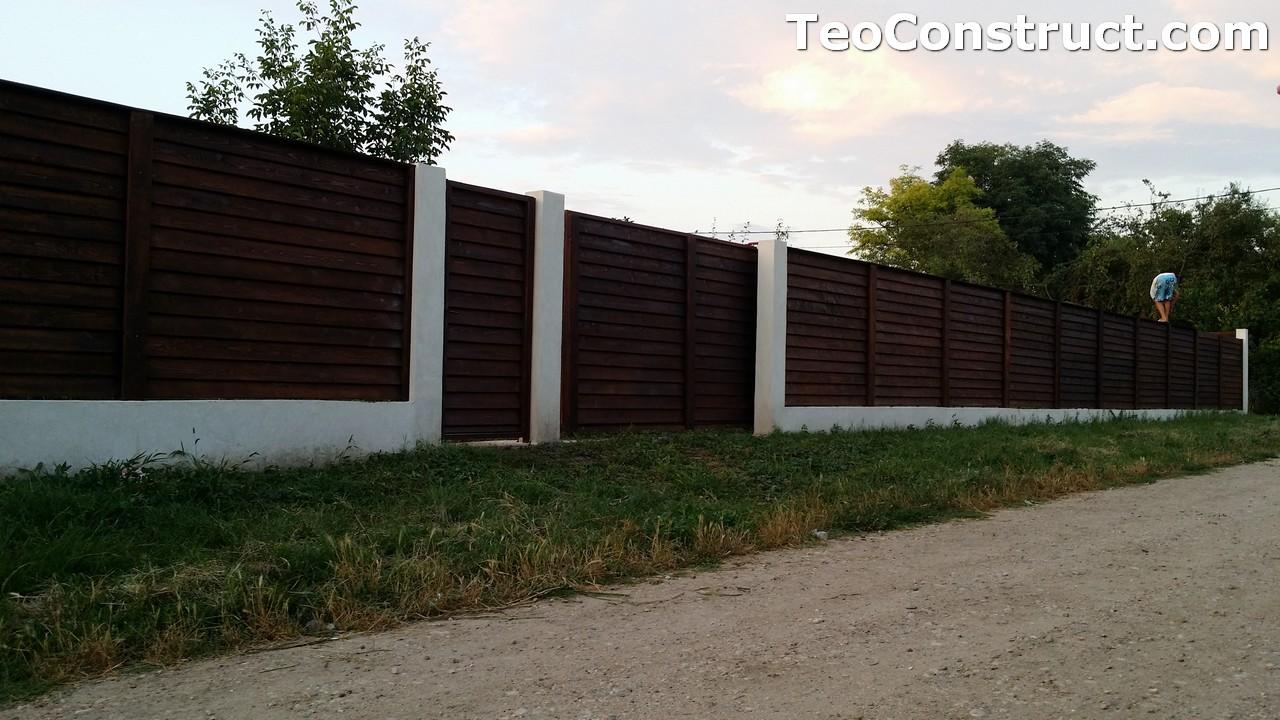 Modele garduri din lemn Deva 11