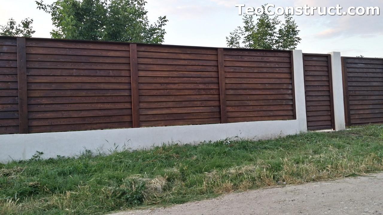 Modele garduri din lemn Deva 12