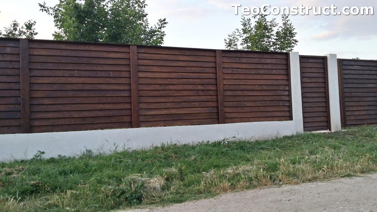Modele garduri din lemn Deva 13