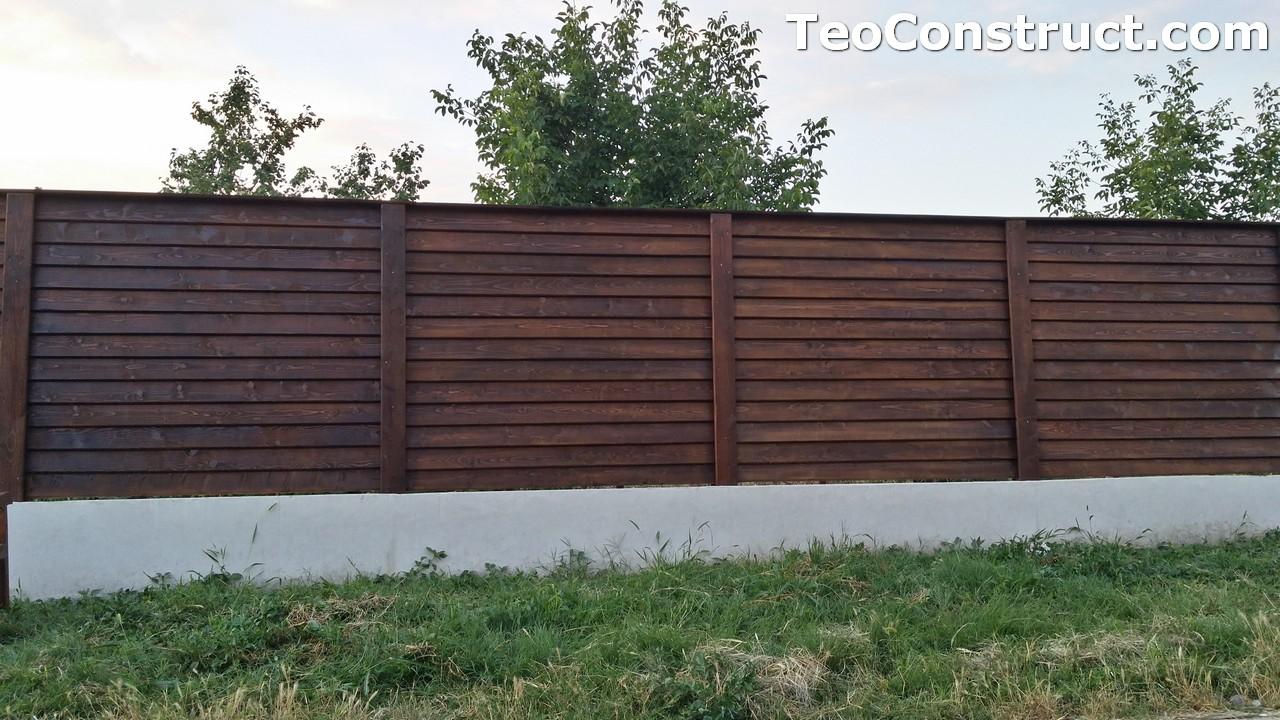 Modele garduri din lemn Deva 14