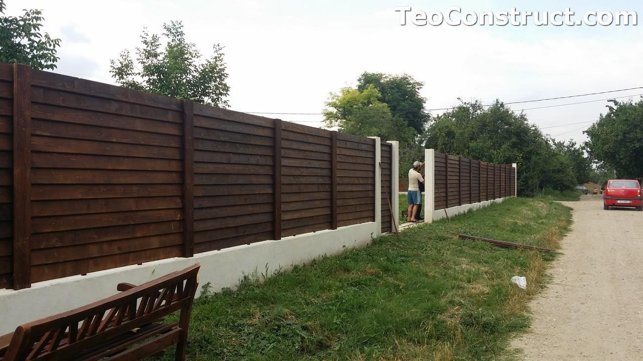 Modele garduri din lemn Deva 2