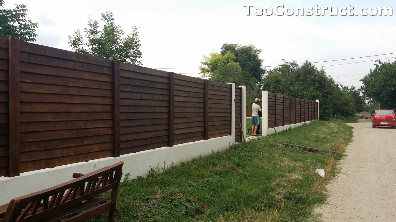 Modele garduri din lemn Deva 3
