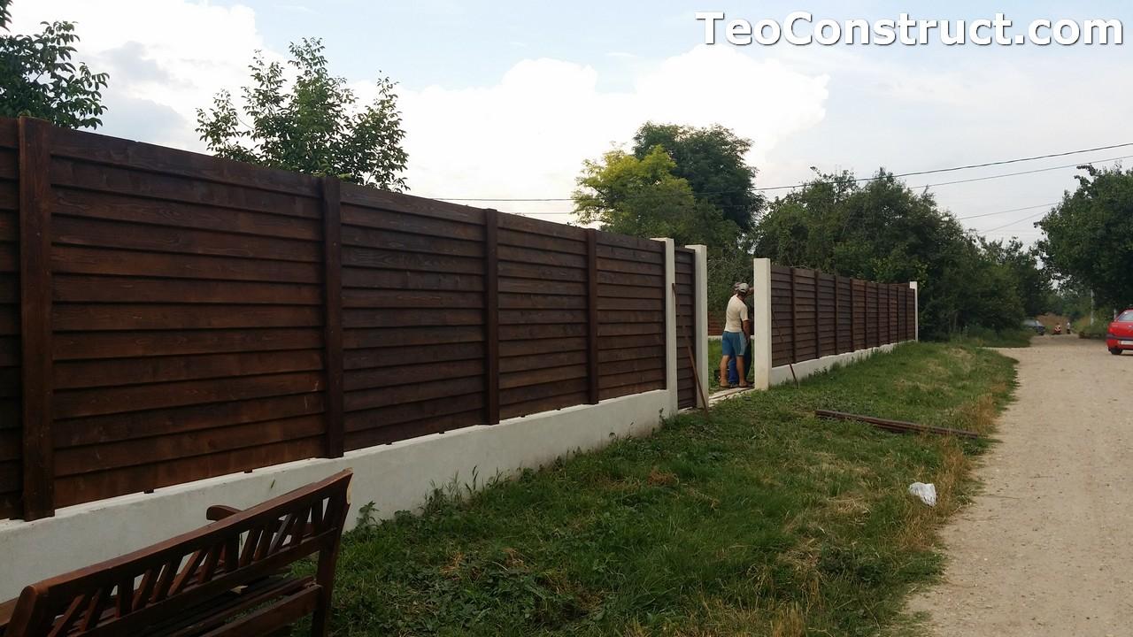 Modele garduri din lemn Deva 4