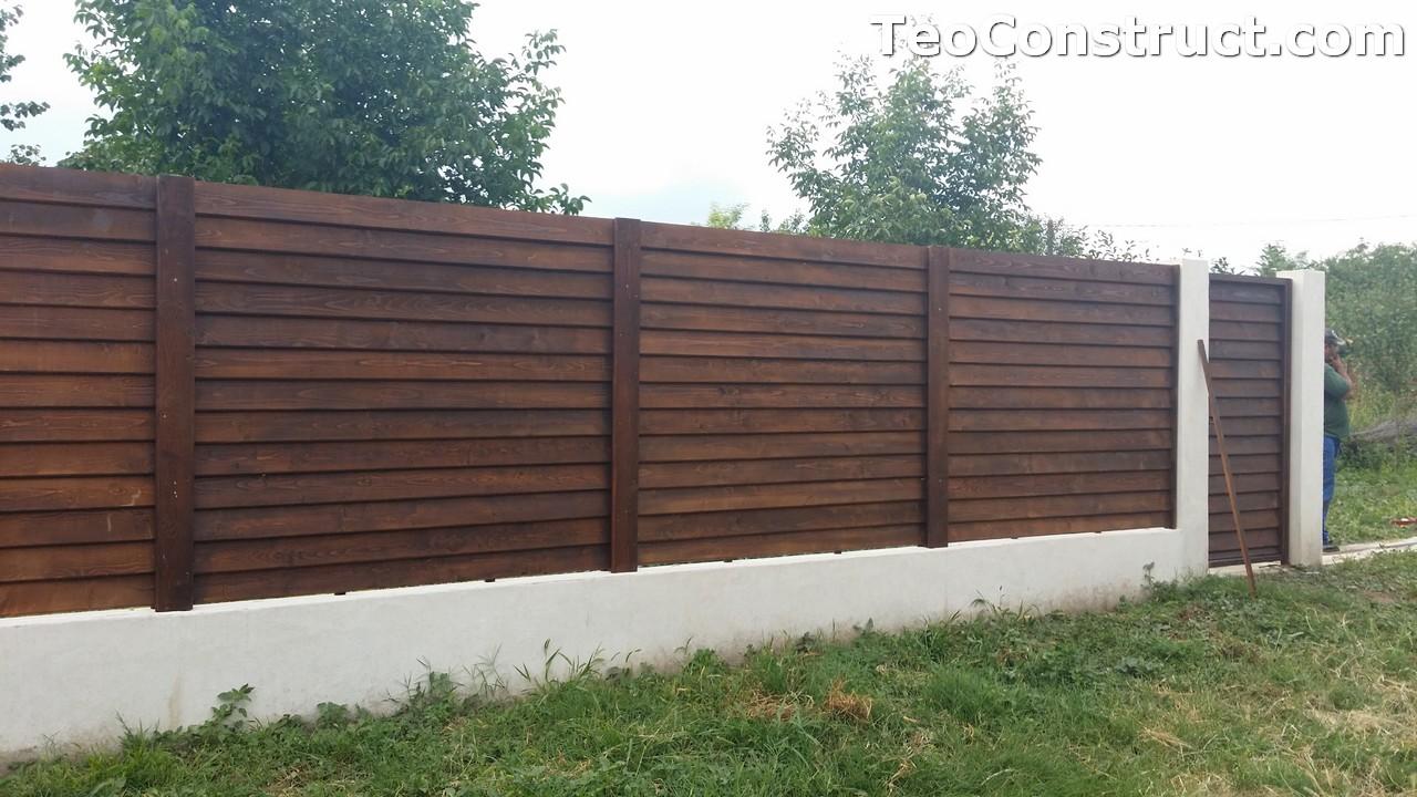 Modele garduri din lemn Deva 5