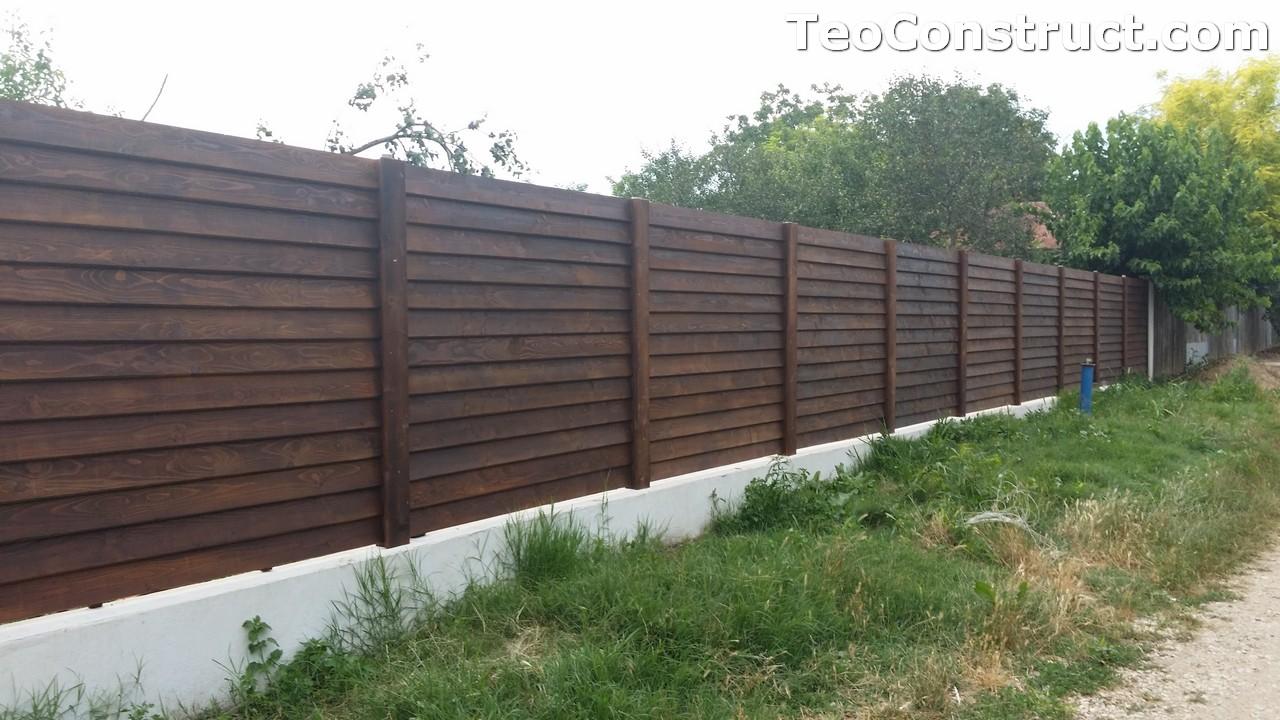 Modele garduri din lemn Deva 7