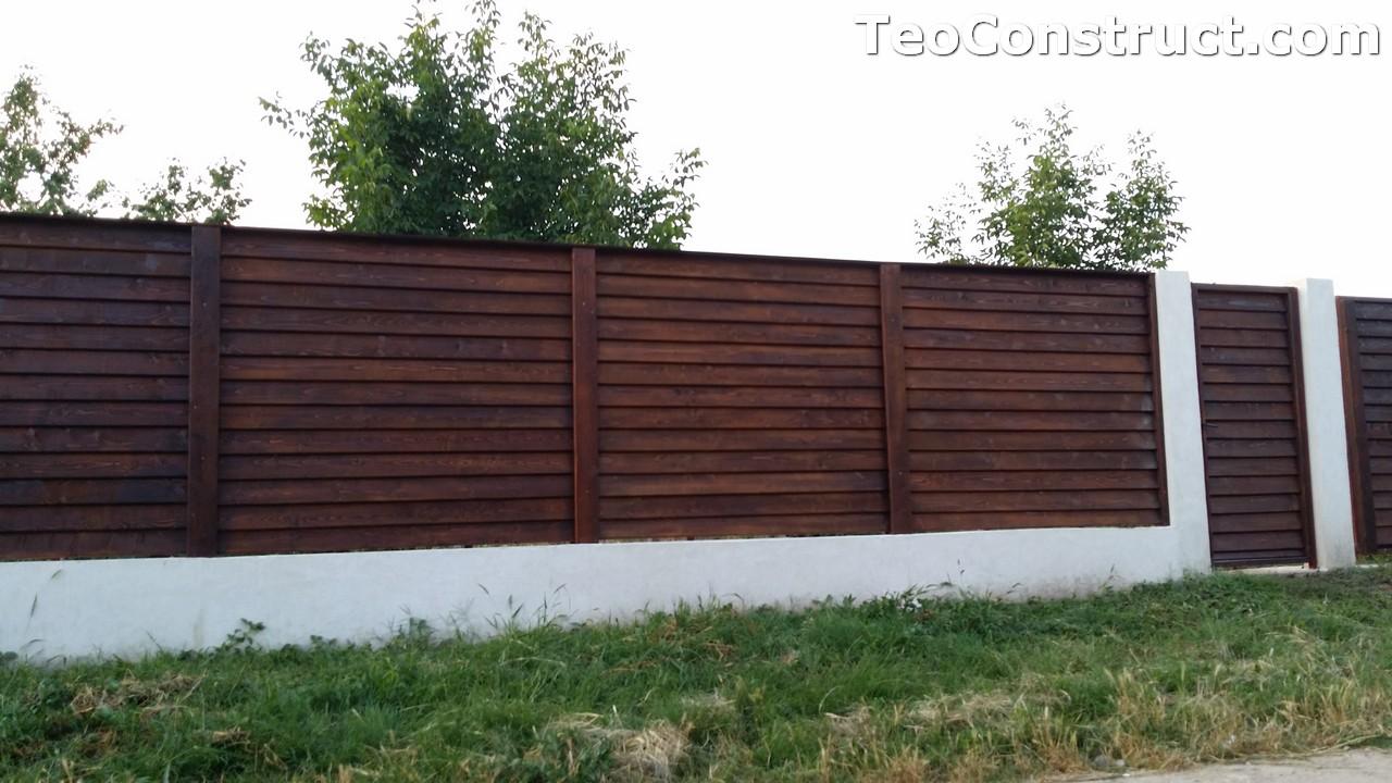 Modele garduri din lemn Deva 9