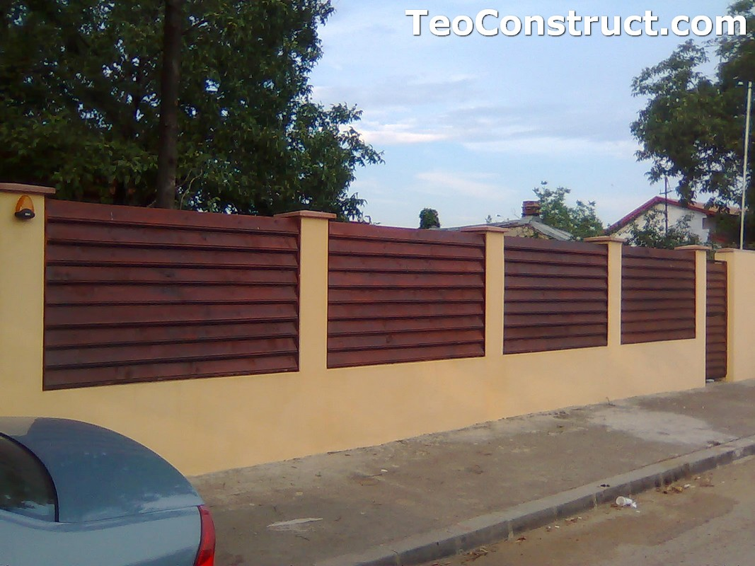 Stalpi pentru garduri din lemn 2
