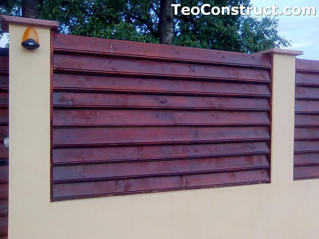 Stalpi pentru garduri din lemn 3