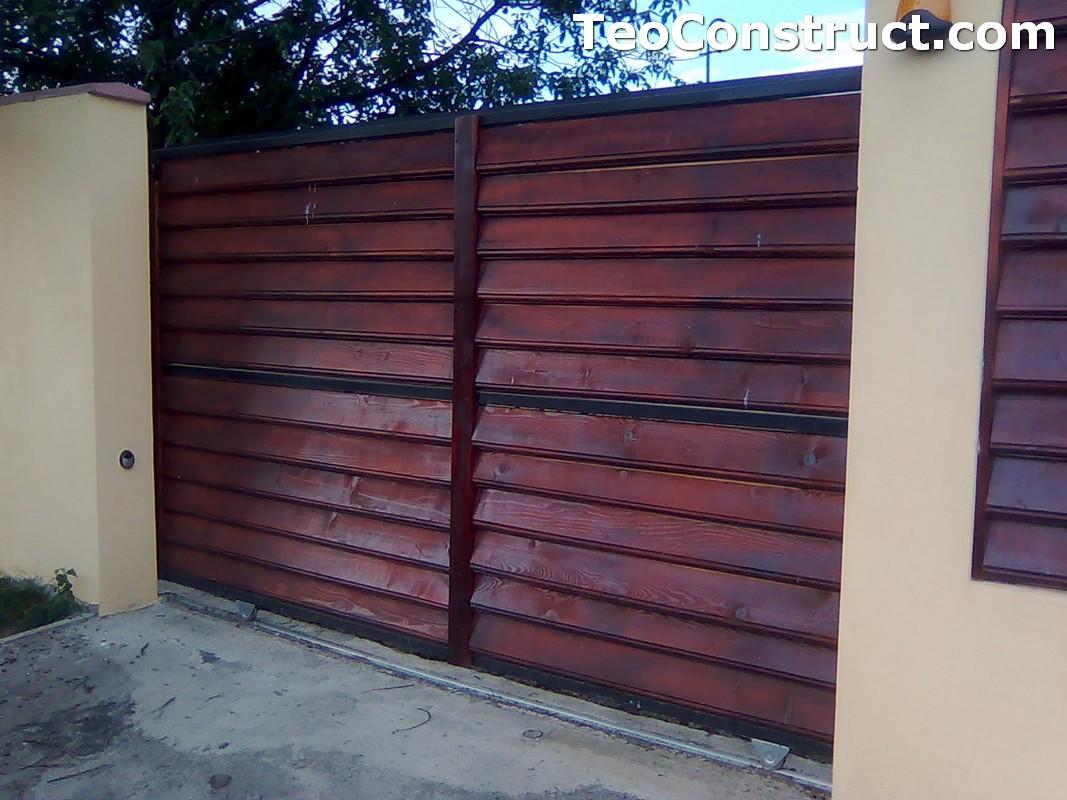 Stalpi pentru garduri din lemn 4