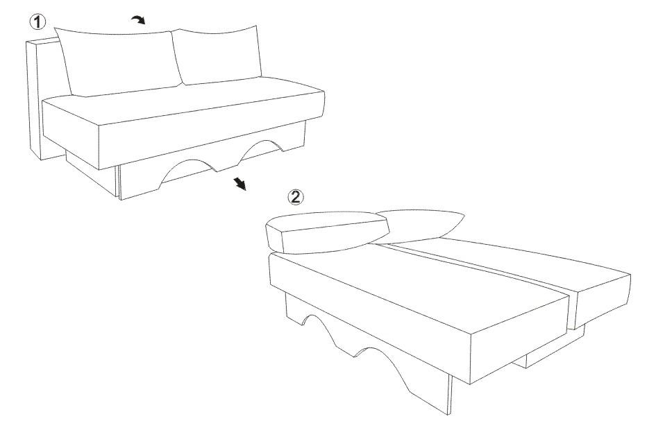 Canapea cu taburet KOL DALIA (1)