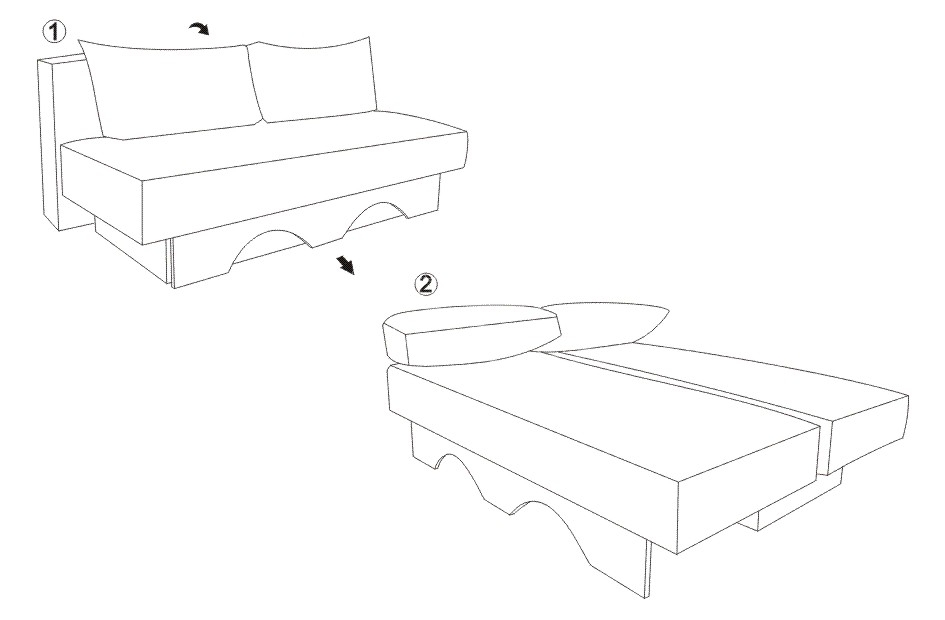 Canapea de living din lemn KOL DALIA (2)