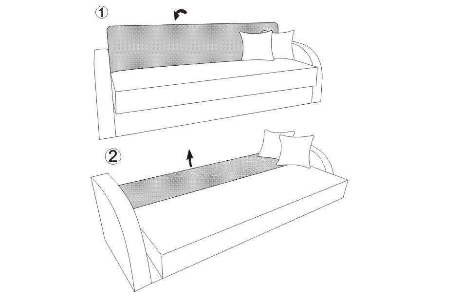 Canapea extensibila KOL CLICK-CLACK (2)