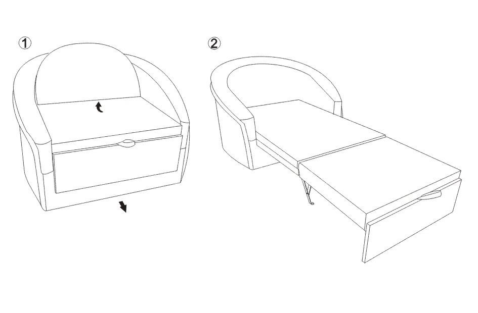 Fotoliu sufragerie extensibil KOL STEFI (2)