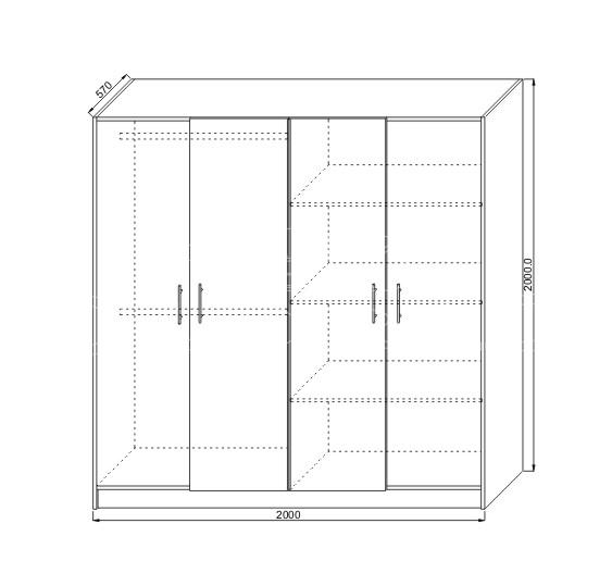 Mobila dormitor ieftina KOL A31K Bucuresti (7)