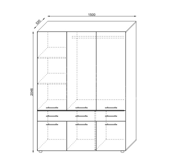 Mobila pentru dormitor A22K2 Slatina (7)