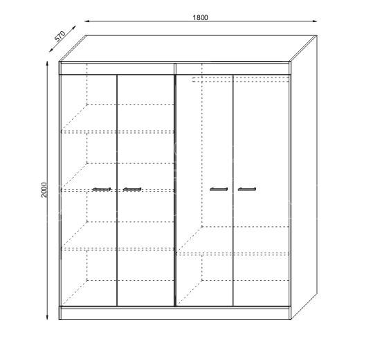 Mobilier pentru dormitor KOL AFRODITA (2)