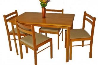 Set masa din lemn cu 4 scaune MB-1601