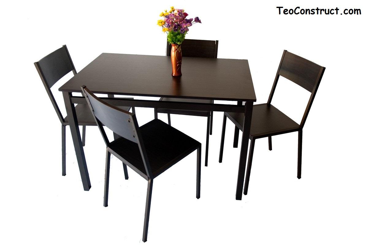 Set masa din lemn cu 4 scaune WIZ MBS-201