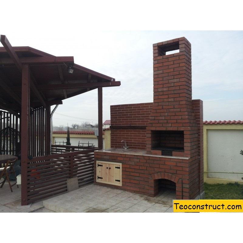 Gratar de gradina cu chiuveta calarasi foisoare din lemn for Gratare de gradina