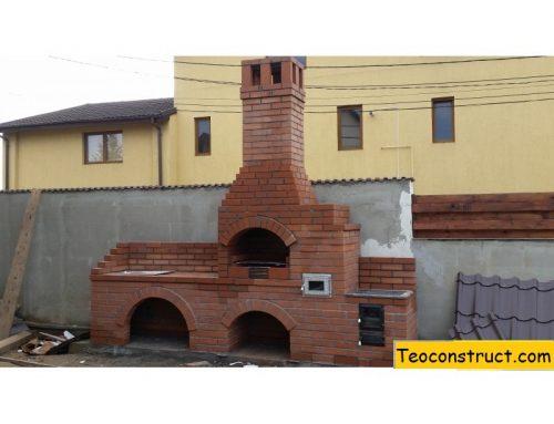 Gratar de gradina din caramida cu plita si cuptor Cluj