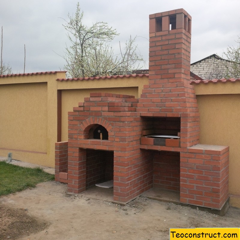 Gratar de gradina din caramida si cuptor de pizza ploiesti for Gratare de gradina