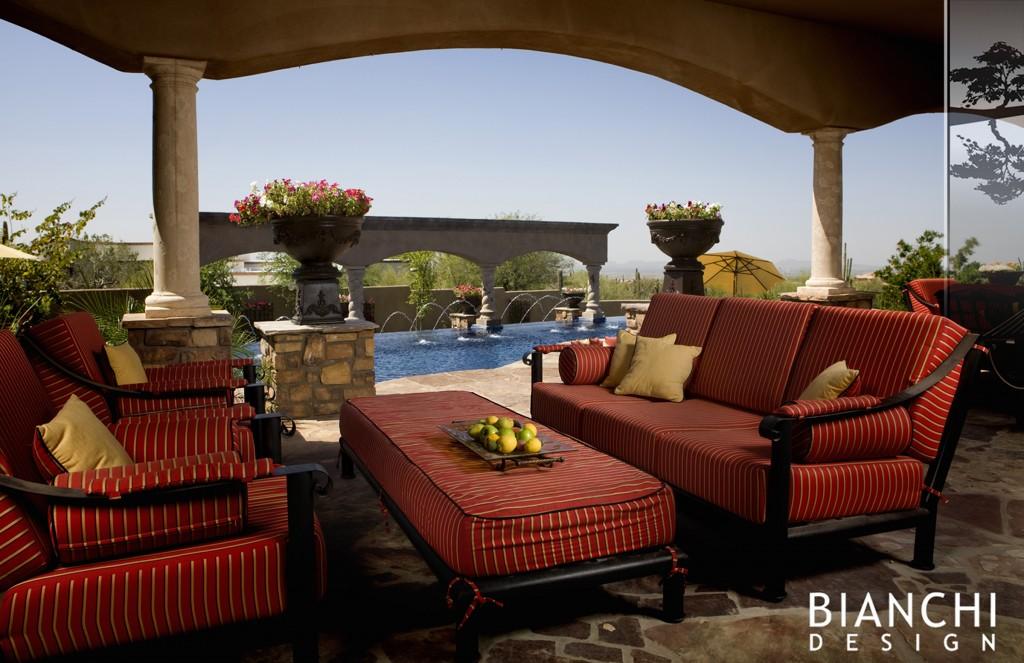 Amenajare terasa intr -un stil modern