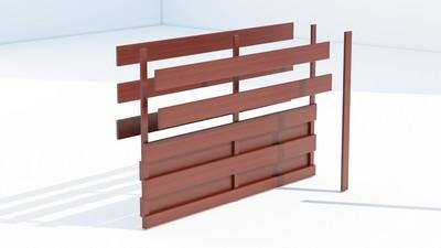 Panou gard tip matrice din lemn de rasinoase.
