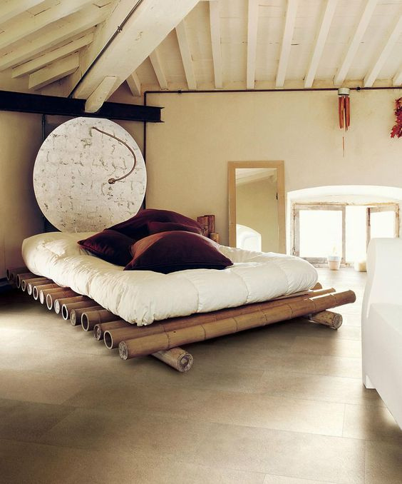 pat matrimonial din bambus