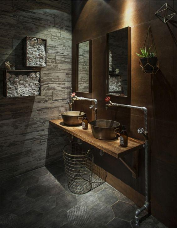 rustic si modern in propria baie