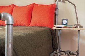 Design industrial pentru un pat matrimonial