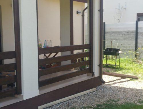 Balustrada din lemn bine finisata