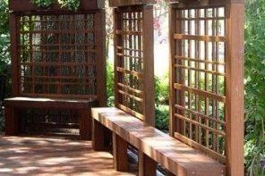 Bancute, garduri decorative si jardiniere