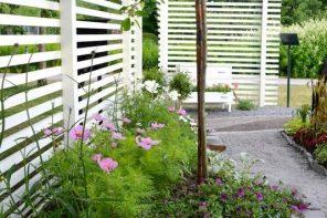 Gard din lemn cu lamele bine distantate intre ele