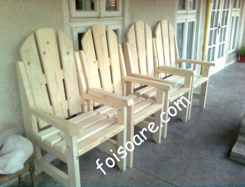 Scaune din lemn pentru gradina